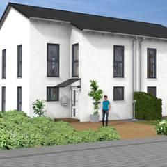 Haus Idee Doppelhaushälfte mit einer Wohnfläche von ca. 111 m²:  Holzhaus von SI-Massivhaus