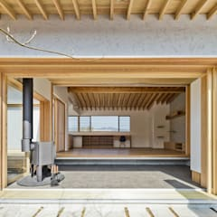 Corridor & hallway by キリコ設計事務所, Asian