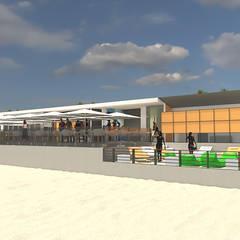 Apoio de Praia - Praia de Paço d'Arcos - Oeiras: Bares e clubes  por Arbisland Arquitectura & Design