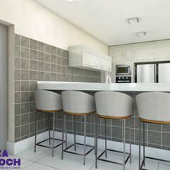 Cozinha 01: Armários e bancadas de cozinha  por Luiza Broch Arquitetura e Design