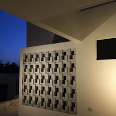 SUNSET SHORES 28 SISAL : Paredes de estilo  por Alberto Zavala Arquitectos