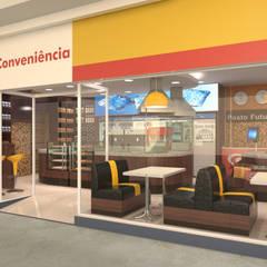 Loja de conveniência - posto Futuro - Barão Geraldo Campinas: Espaços gastronômicos  por Sergio Righetto Arquitetura Ltda