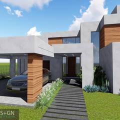 VIVIENDA O: Casas unifamiliares de estilo  por BVS+GN ARQUITECTURA