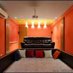 Home Theatre: modern Media room by malvigajjar