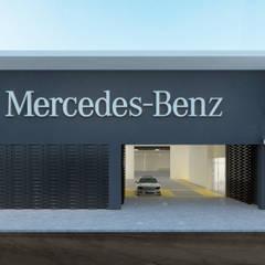 Comauto : Stands de automóveis  por Terra Arquitectos