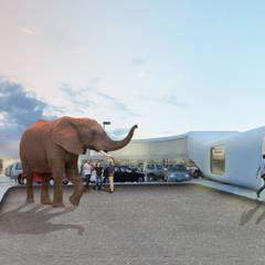 MUM: Stands de automóveis  por Terra Arquitectos