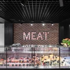 Дизайн фирменного магазина сети «Мясная Гильдия и Gremio de la carne»: Коммерческие помещения в . Автор – Art-i-Chok