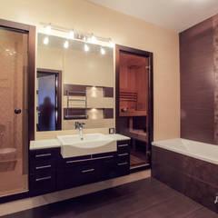 Квартира-студия в стиле Ар Деко: Ванные комнаты в . Автор – Технологии дизайна