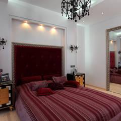 Квартира-студия в стиле Ар Деко: Спальни в . Автор – Технологии дизайна,