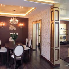 Столовая в стиле ар деко на пр. Маршала Жукова: Столовые комнаты в . Автор – Технологии дизайна