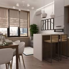 Квартира 76 кв.м в ЖК Фили Град: Встроенные кухни в . Автор – owndesign