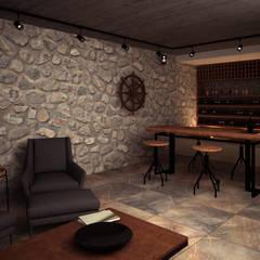 mediterranean Wine cellar by PRAGMA Arquitectura