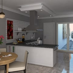 Diseño de cocina: Cocinas equipadas de estilo  por PRAGMA Arquitectura