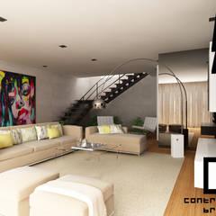 Design de Interiores de Moradia Moderna CCB _ V.N.Gaia: Salas de estar  por CB   Interior Design