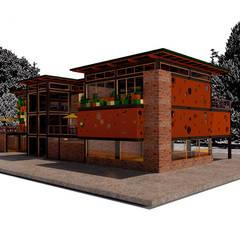Club House: Casas campestres de estilo  por Icónica Arquitectos