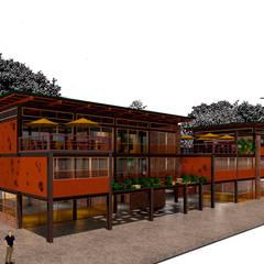 Club House: Casas campestres de estilo  por Icónica Arquitectos, Minimalista