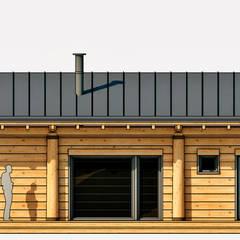 Каркасно-рубленый банный комплекс: Деревянные дома в . Автор – Архiпарни