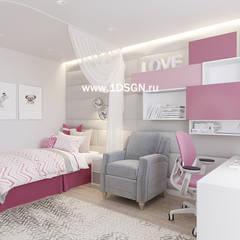 Habitaciones juveniles de estilo  por Дизайн студия 'Дизайнер интерьера № 1'