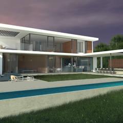 minimalistisch Zwembad door Nicolas Loi + Arquitectos Asociados