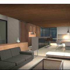 Casa Chicureo: Livings de estilo  por Nicolas Loi + Arquitectos Asociados