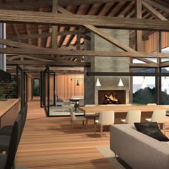 Casa Lago Ranco: Cocinas de estilo  por Nicolas Loi + Arquitectos Asociados
