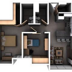 Remodelacion Interior Apartamento Caracas: Muebles de cocinas de estilo  por Arq. Barbara Bolivar, Moderno Madera Acabado en madera