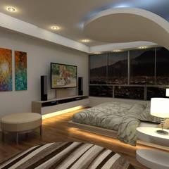 Diseño Mobiliario Habitacion Principal: Cuartos de estilo  por Arq. Barbara Bolivar,