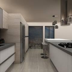 Diseño Cocina y Mueble Tv: Muebles de cocinas de estilo  por Arq. Barbara Bolivar