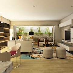 PROYECTO WA : Salas / recibidores de estilo  por Luis Escobar Interiorismo, Moderno