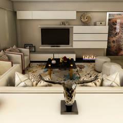 PROYECTO WA : Salas / recibidores de estilo  por Luis Escobar Interiorismo,