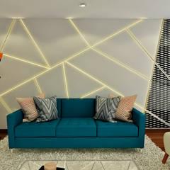 PROYECTO JG: Salas / recibidores de estilo  por Luis Escobar Interiorismo