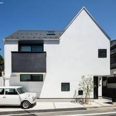ミニとミニマルな家の外観: 石川淳建築設計事務所が手掛けた一戸建て住宅です。
