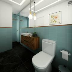 PROYECTO CR: Baños de estilo  por Luis Escobar Interiorismo, Moderno
