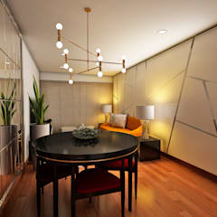 PROYECTO GA: Salas / recibidores de estilo  por Luis Escobar Interiorismo