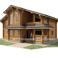 Загородный дом из бревна: Деревянные дома в . Автор – Projectstroy