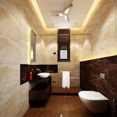 Residence-Pinjaniji:  Bathroom by KHOWAL ARCHITECTS + PLANNERS
