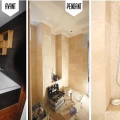 Rénovation complète d'une Maison de ville à Vincennes: Salle de bains de style  par GRAM Architecture