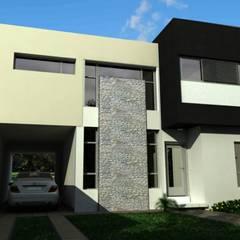 Vista Frente: Casas unifamiliares de estilo  por I.S. ARQUITECTURA