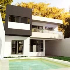 Vista Contrafrente: Casas unifamiliares de estilo  por I.S. ARQUITECTURA