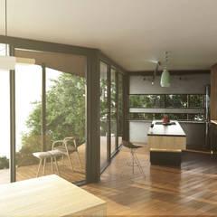 Casa C-J: Cocinas integrales de estilo  por Adrede Diseño