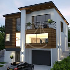 Entrance:  Villas by Comelite Architecture, Structure and Interior Design