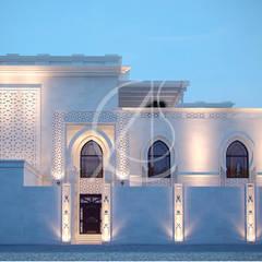 White Modern Islamic Villa Exterior Design:  Villas by Comelite Architecture, Structure and Interior Design