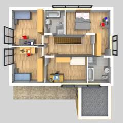Grundriss OG:  Holzhaus von SI-Massivhaus