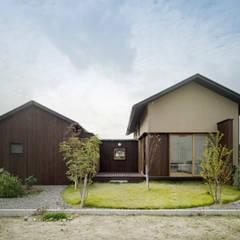 外観: アトリエ FUDOが手掛けた木造住宅です。