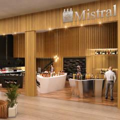 Loja Mistral: Chalés e casas de madeira  por Tipo Arquitetos