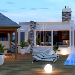 Family Luxury Holiday Home:  Garden Pool by Comelite Architecture, Structure and Interior Design