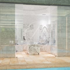 Turkish Bath:  Steam Bath by Comelite Architecture, Structure and Interior Design