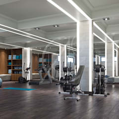 Gym by Comelite Architecture, Structure and Interior Design , Modern Solid Wood Multicolored
