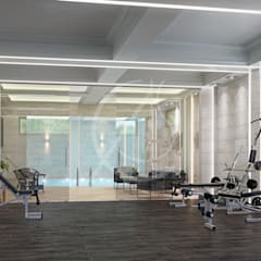 Gym:  Gym by Comelite Architecture, Structure and Interior Design