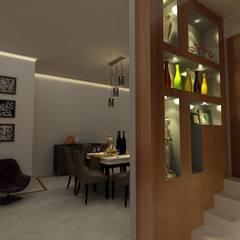 MALVIYA NAGAR RESIDENCE, NEW DELHI:  Dining room by Total Interiors Solutions Pvt. ltd.
